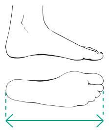 Schoenmaat bepalen